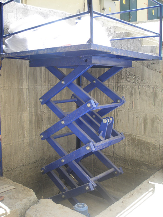 Makaslı Hidrolik Yük Asansörü